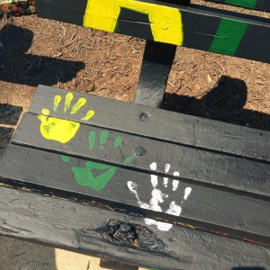 AMSAW Bench Painting =- Handprints
